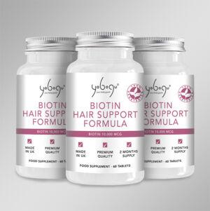 Tripla adag Biotin Hair Support Formula - aktív 3 havi kúra az erős és dús hajért