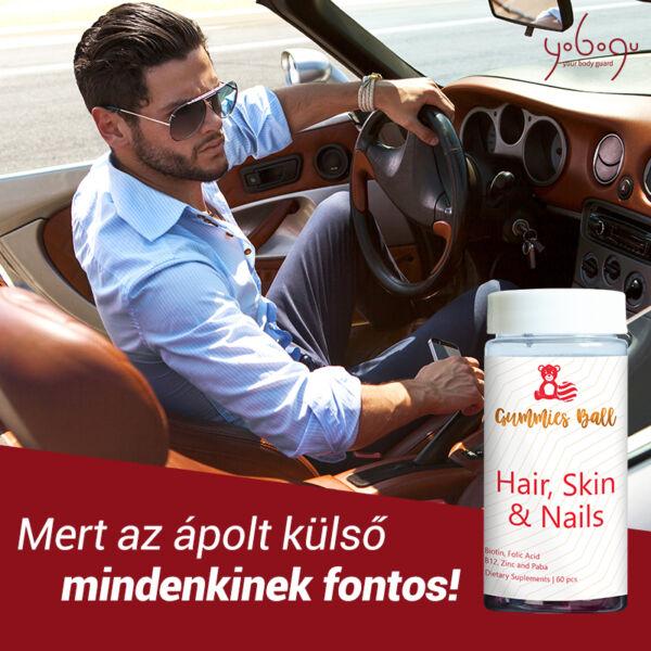 Gummies Ball - Hair, Skin & Nails - gumicukor vitamin - 60 db