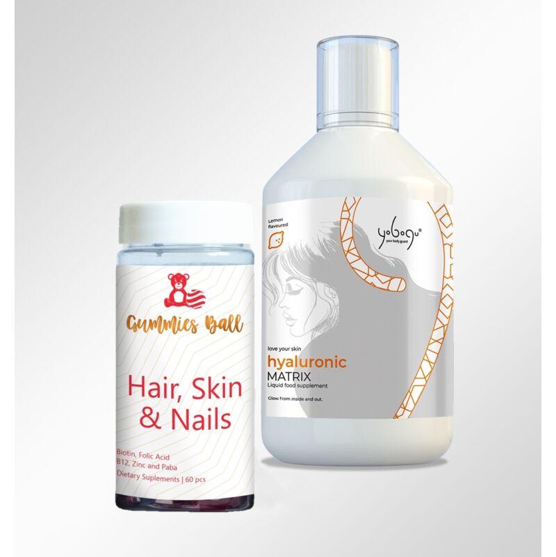 Yobogu Hyaluronic Matrix + Hair, Skin & Nails gumivitamin
