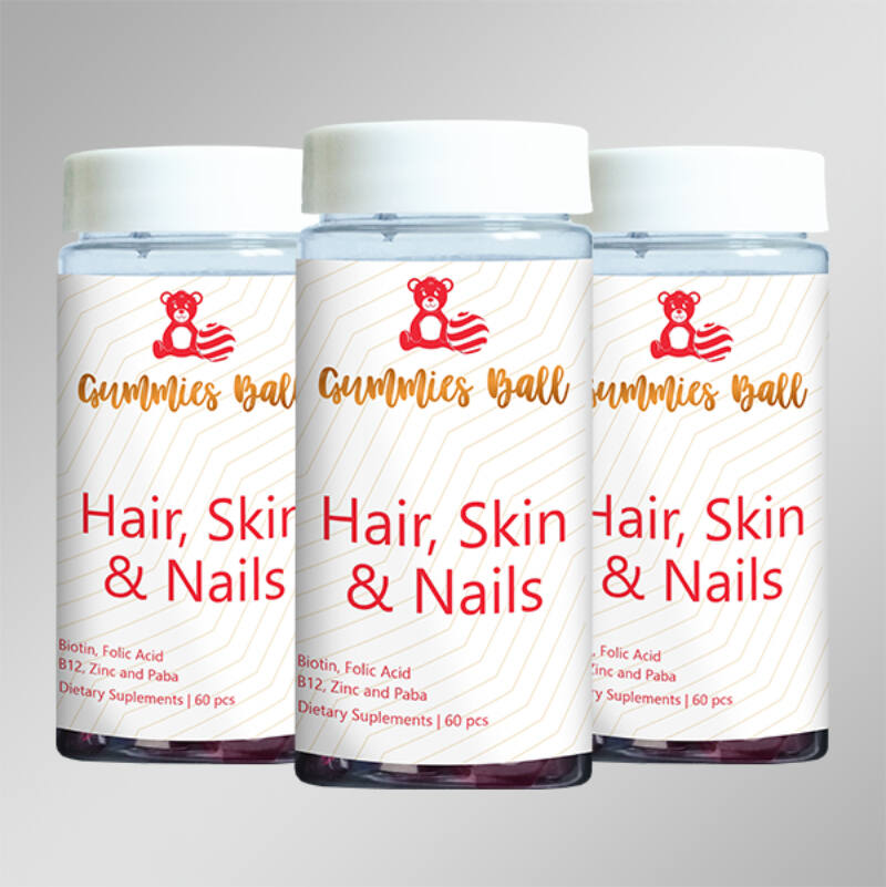 Yobogu Hair, Skin & Nails gumilabdácskák vitamin