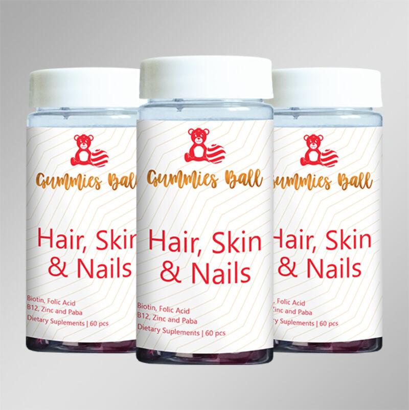 Yobogu Hair, Skin & Nails gumilabdácskák vitamin
