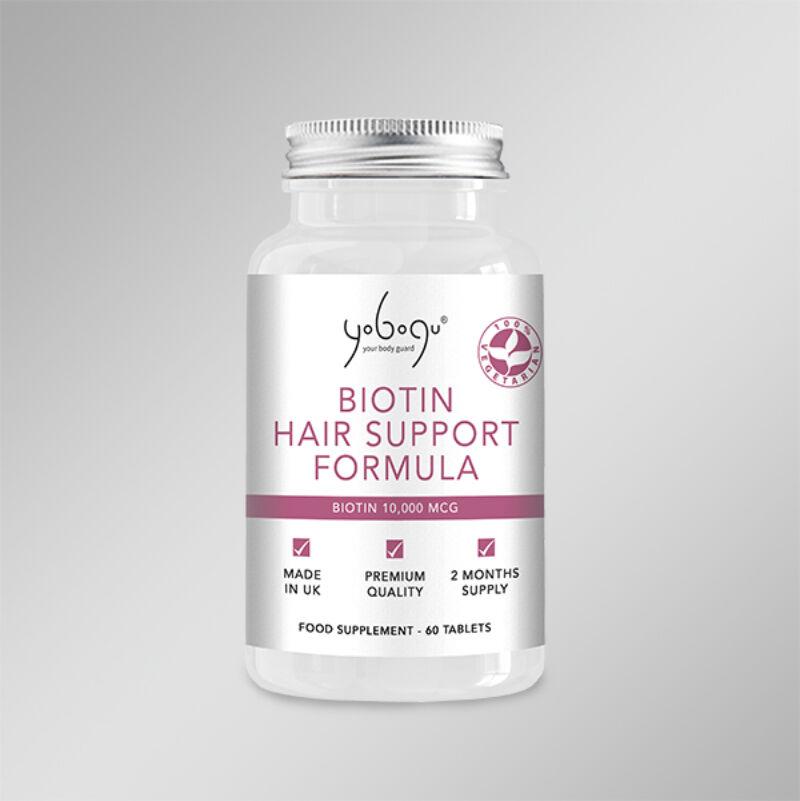 Biotin Hair Support Formula- Natúr Vegán kapszula az anyagcsere normál működéséért