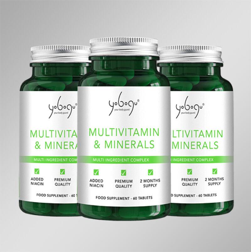 Tripla adag Multivitamin&Minerals - Natúr Vegán vitaminegyüttes folyamatos 20% kedvezménnyel!