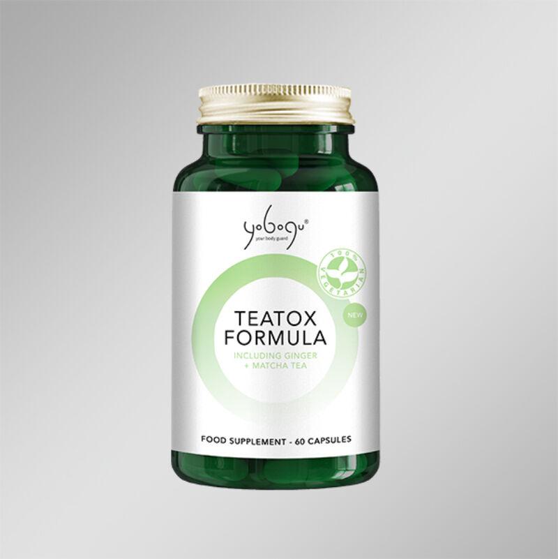 TeaTox Formula - Natúr vegán kapszula a szervezet méregtelenítéséért