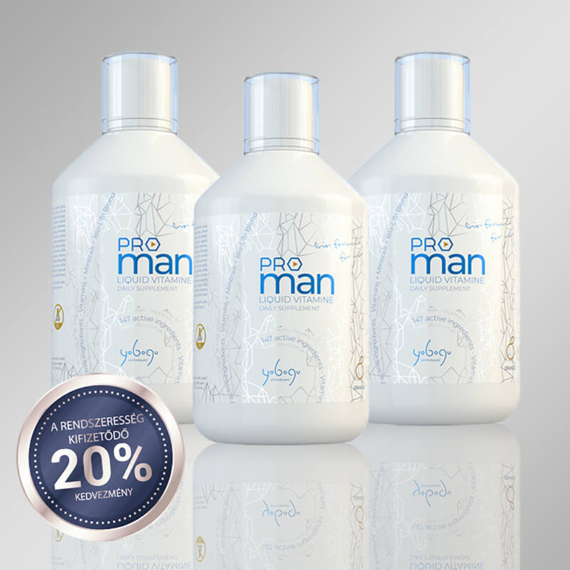 Tripla csomag - folyékony vitamin férfi csomag - 3x500 ml